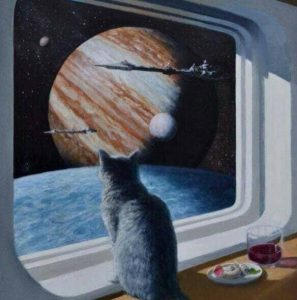 """""""Ship's Cat"""", by Keith Spangle, 2012"""